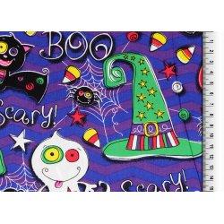 Carnaval Halloween Poplin Scary 128646 0801