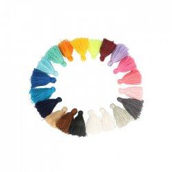5st x 20 kleuren Kwastjes mat 4,5cm lang