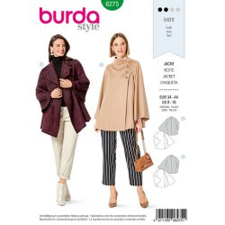 Burda 6275 jasjes van Wol, Fleece of Tweed