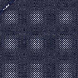 Katoen Gecoat met kleine stippen C4948 V Navy 002