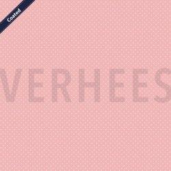 Katoen Gecoat met kleine stippen C4948 V Roze 012