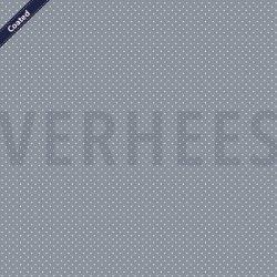 Katoen Gecoat met kleine stippen C4948 V grijs 013