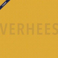 Katoen Gecoat met kleine stippen C4948 V geel 016