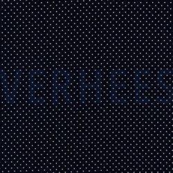 Poplin Katoen met kleine stipjes 04948 V Navy 002