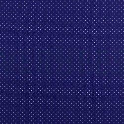 Poplin Katoen met kleine stipjes 04948 V Kobalt 003