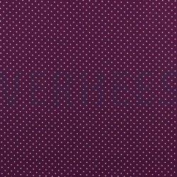 Poplin Katoen met kleine stipjes 04948 V Paars 007