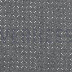 Poplin Katoen met kleine stipjes 04948 V Grijs 013