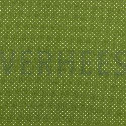 Poplin Katoen met kleine stipjes 04948 V groen 017
