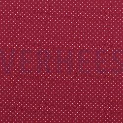 Poplin Katoen met kleine stipjes 04948 V Cerise 018