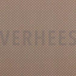 Poplin Katoen met kleine stipjes 04948 V Taupe 019