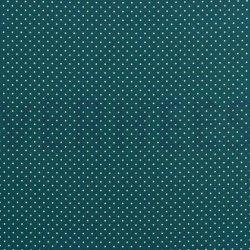 Poplin Katoen met kleine stipjes 04948 V Petrol 023