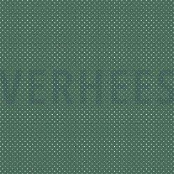 Poplin Katoen met kleine stipjes 04948 V Donkergroen 027