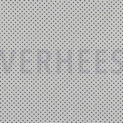 Poplin Katoen met kleine stipjes 04948 V wit zwart 101