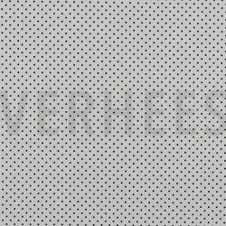 Poplin Katoen met kleine stipjes 04948 V wit navy
