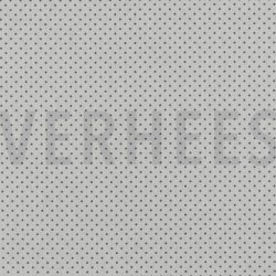 Poplin Katoen met kleine stipjes 04948 V wit grijs 113