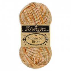 Merino Soft Brush Scheepjeswol 251 Geel, Bruin, Oranje