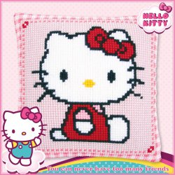 KRUISSTEEKKUSSEN KIT HELLO KITTY PN-0147565