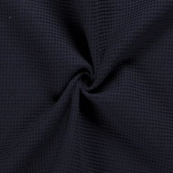 Wafelstof Uni 100% Katoen 02902 blauw 008