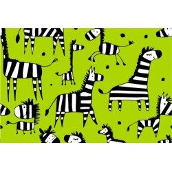 Tricot met Zebra Giraffe 11378 Groen 023