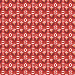 Poplin Abstract Batic World 15523 Rood 015
