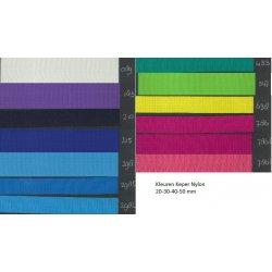 Keperband Nylon Grof in 20-30-40 of 50 mm. Per cm/mtr te bestellen