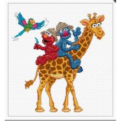 Thea G. Sesame Street Safari op Aida