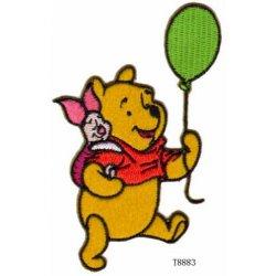 Applic. Winnie Pooh met Piglet en luchtballon