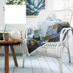 Gratis patroon deken Mountain Clouds Blanket