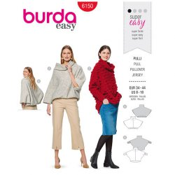 Burda 6190 Truien van Gebreid, Fleece of Jogging