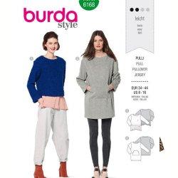 Burda 6168 Pullovers van Gebreid, Jogging