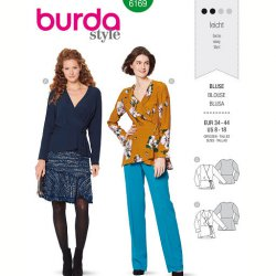 Burda 6169 Blouses van Viscose, Crepe of Satijn