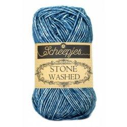 Stone Washed. Pendikte 3-3,5 mm. Kleur 805. Blue Apatite. Scheepjeswol.