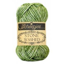 Stone Washed. Pendikte 3-3,5 mm. Kleur 806. Canada Jade. Scheepjeswol.