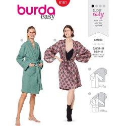 Burda 6161 Kimono's van Katoen, Badstof, Zijde of Satijn