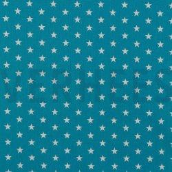 Poplin Kleine Sterretjes 04955 V Turquoise 009