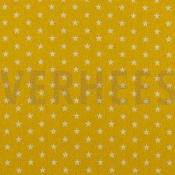 Poplin Kleine Sterretjes 04955 V geel 016