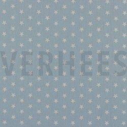 Poplin Kleine Sterretjes 04955 V Blauw 020