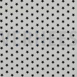 Poplin Kleine Sterretjes 04955 V Wit zwart 101