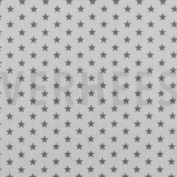 Poplin Kleine Sterretjes 04955 V wit grijs 113