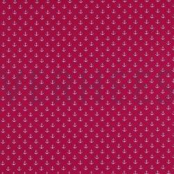 Poplin Kleine Anker 8601 V Roze 006