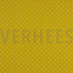 Poplin Kleine Anker 8601 V geel 016