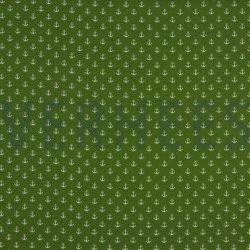Poplin Kleine Anker 8601 V groen 017