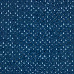 Poplin Kleine Anker 8601 V Blauw 025