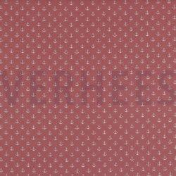 Poplin Kleine Anker 8601 V Roze 031