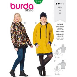 Burda 6195 Sweaters van Jersey of Jogging