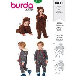 Burda 9294 Jumpsuits van Jogging, Tricot of Teddy