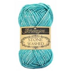 Stone Washed. Pendikte 3-3,5 mm. Kleur 815. Green Agate. Scheepjeswol.