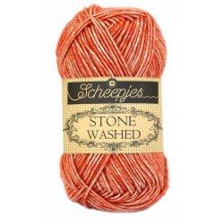 Stone Washed. Pendikte 3-3,5 mm. Kleur 816. Coral. Scheepjeswol.