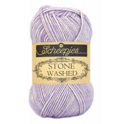 Stone Washed. Pendikte 3-3,5 mm. Kleur 818. Lilac Quartz. Scheepjeswol.