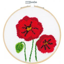 PUNCH NEEDLE POPPIES PN-0190805